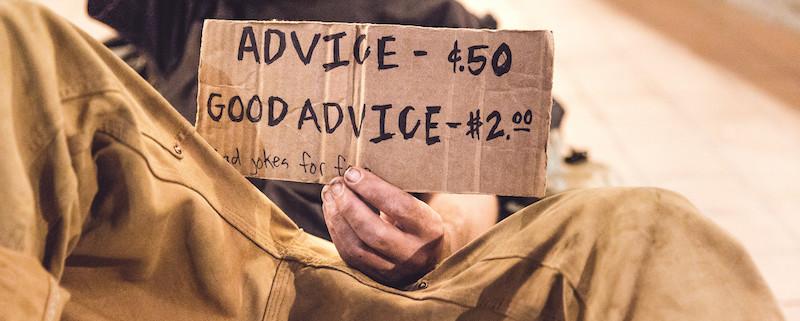 man selling advice